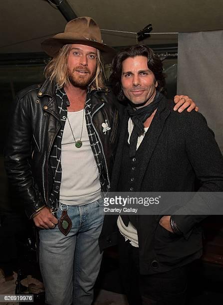 Nick Fouquet and Greg Lauren attend the Greg Lauren For Banana Republic Event at Greg Lauren Studio on November 30 2016 in Los Angeles California