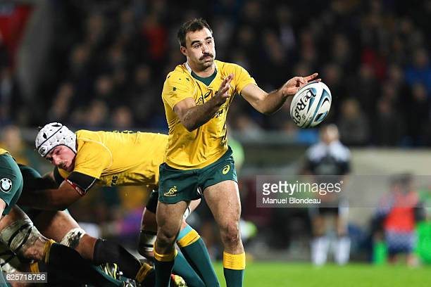 Nick Frisby of Australia during the test match between Barbarians and Australia at Stade ChabanDelmas on November 24 2016 in Bordeaux France