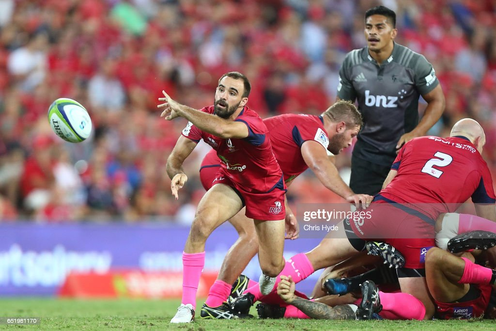 Super Rugby Rd 3 - Reds v Crusaders : News Photo