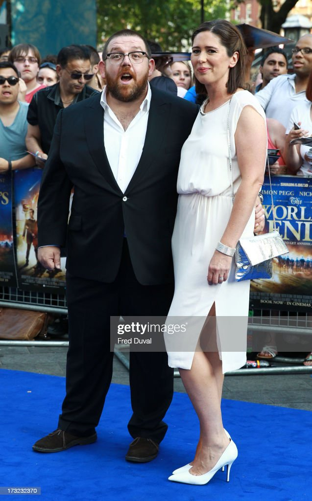 Nick Frost and Christina Frost attend the World film Premiere of 'The World's End' at The Empire Cinema on July 10, 2013 in London, England.