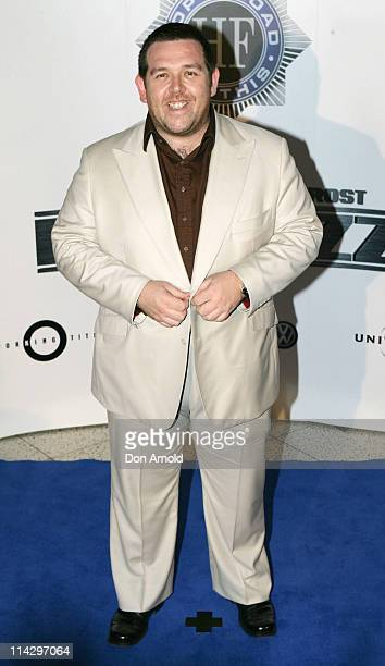Nick Frost during Hot Fuzz Sydney Premiere Arrivals at Greater Union in Sydney NSW Australia