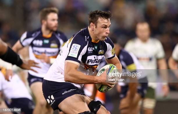 Nick Frost of the Brumbies in action during the round five Super Rugby Trans-Tasman match between the ACT Brumbies and the Highlanders at GIO Stadium...