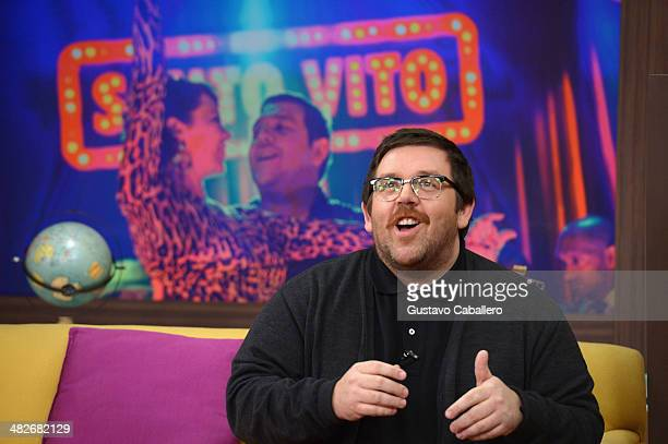 Nick Frost on the set of Despierta America at Univision Headquarters on April 4 2014 in Miami Florida