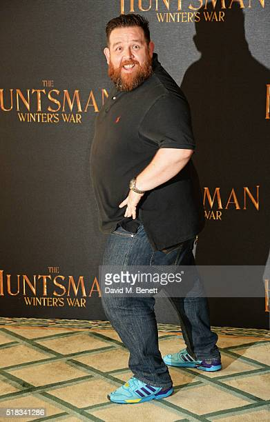 Nick Frost poses at a photocall for The Huntsman Winter's War at Claridges Hotel on March 31 2016 in London England
