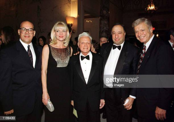 Nick Geanopoulos Margo Catsimatidis John Rigas John Catsimatidis and New York City Council Speaker Peter Valone pose at The Metropolitan Club October...