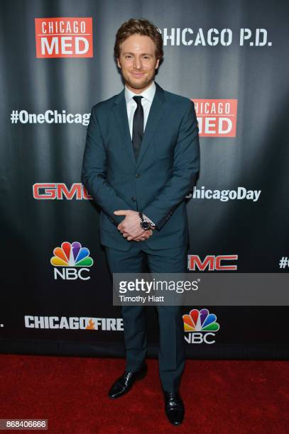 Nick Gehlfuss attends the One Chicago party during NBC's 'One Chicago' press day on October 30 2017 in Chicago Illinois