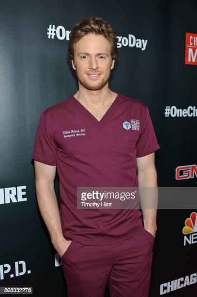 Nick Gehlfuss attends the press junket for 'One Chicago' on October 30 2017 in Chicago Illinois