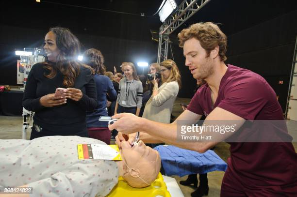 Nick Gehlfuss takes part in a behindthescenes show and tell at the NBC 'One Chicago' press day on October 30 2017 in Chicago Illinois