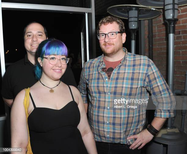 Nick Giangarra Tiffany Pegrum and Alex Cox attend the 31st 'Kinda'Annual' DeadDog Party held at The Barriohaus on July 22 2018 in San Diego California