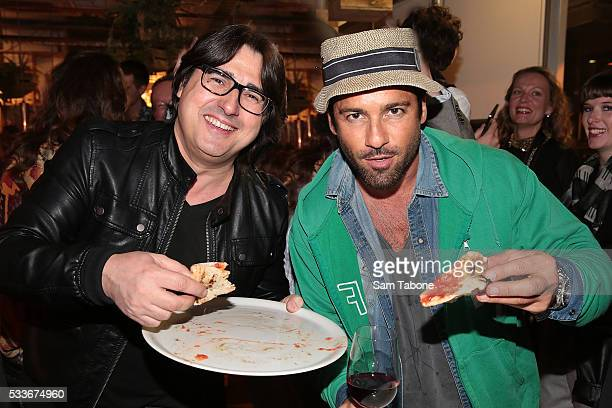 Nick Giannopoulos and Alex Dimitriades attend the Eat'aliano by Pino Italian Feast launch on May 23 2016 in Melbourne Australia