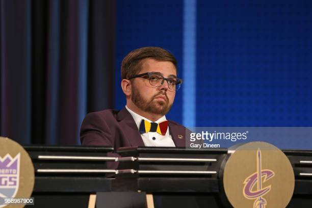 Nick Gilbert represents the Cleveland Cavaliers during the NBA Draft Lottery on May 15 2018 at The Palmer House Hilton in Chicago Illinois NOTE TO...