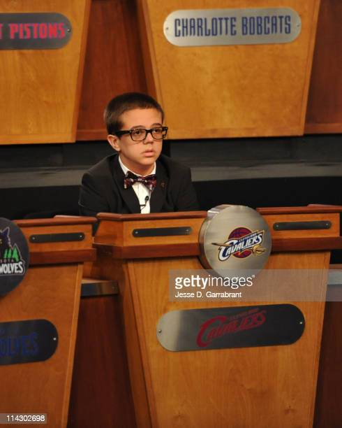 Nick Gilbert son of Cleveland Cavaliers owner Dan Gilbert looks on during the 2011 NBA Draft Lottery at the Studios at NBA Entertainment on May 17...