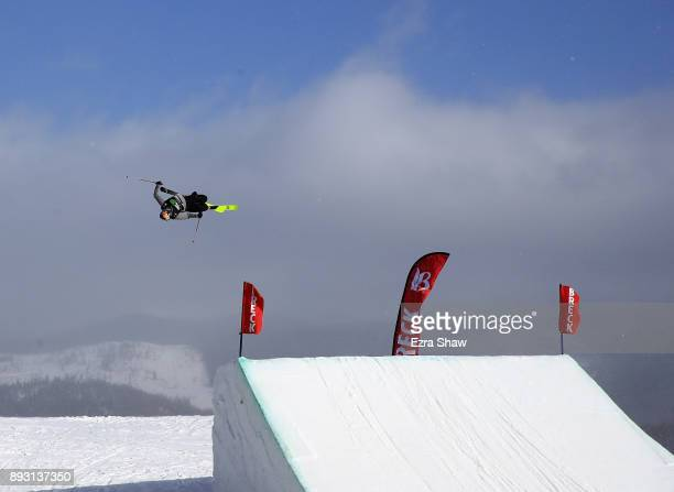 Nick Goepper competes in the Men's Ski Slopestyle qualifier during Day 2 of the Dew Tour on December 14 2017 in Breckenridge Colorado