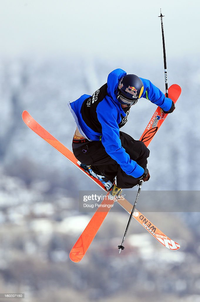 Nick Goepper of the USA spins through the air to win the gold medal in the Men's Ski Slopestyle Final during the Winter X Games Aspen 2013 at Buttermilk Mountain on January 27, 2013 in Aspen, Colorado.