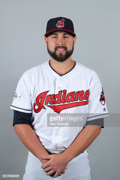 Nick Goody of the Cleveland Indians poses during Photo Day on Wednesday February 21 2018 at Goodyear Ballpark in Goodyear Arizona