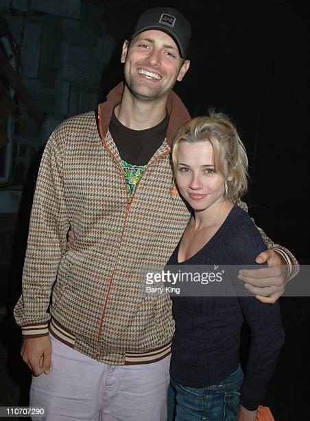 "Nick Goossen and Linda Cardellini during Linda Cardellini, Mekhi Phifer and Shane West of ""ER"" Visit Knott's Scary Farm's 34th Annual Halloween Haunt..."