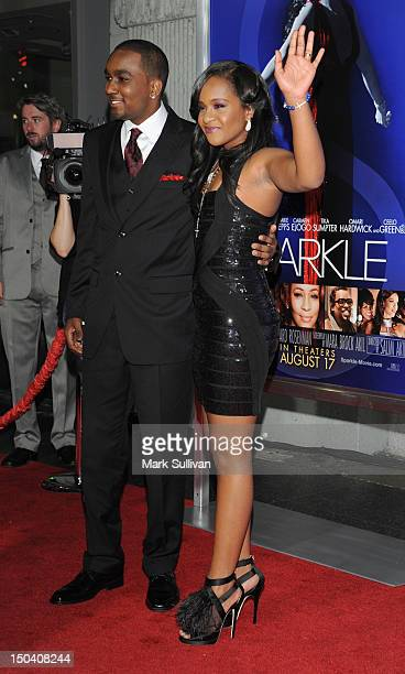 Nick Gordon and Bobbi Kristina Brown arrive for the Los Angeles premiere of Sparkle at Grauman's Chinese Theatre on August 16 2012 in Hollywood...
