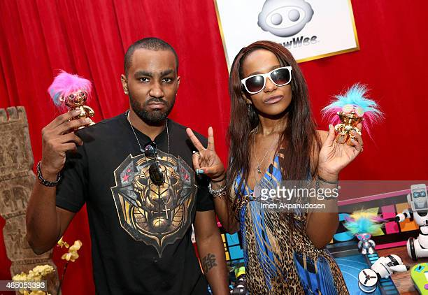 Nick Gordon and Bobbi Kristina Brown attend the GRAMMY Gift Lounge during the 56th Grammy Awards at Staples Center on January 25 2014 in Los Angeles...