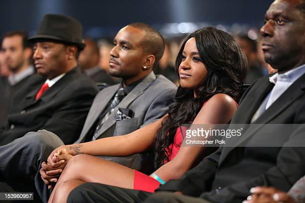 Nick Gordon and Bobbi Kristina Brown attend We Will Always Love You A GRAMMY Salute to Whitney Houston at Nokia Theatre LA Live on October 11 2012 in...