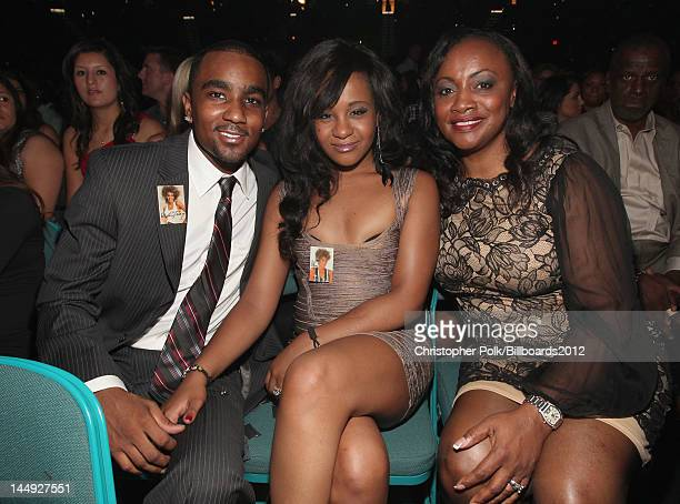 Nick Gordon Bobbi Kristina Brown and Pat Houston attend the 2012 Billboard Music Awards held at the MGM Grand Garden Arena on May 20 2012 in Las...