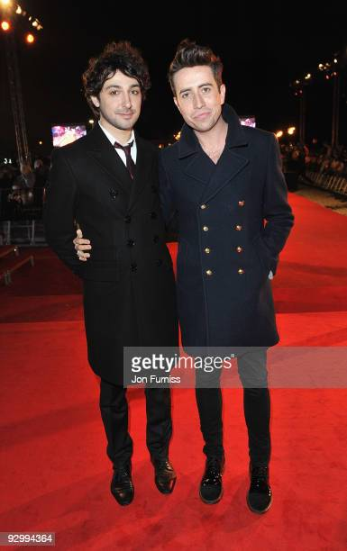 Nick Grimshaw and Alex Zane attend The Twilight Saga New Moon UK fan event at Battersea Evolution on November 10 2009 in London England