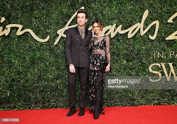 Nick Grimshaw and Cheryl FernandezVersini attend the British Fashion Awards 2015 at London Coliseum on November 23 2015 in London England