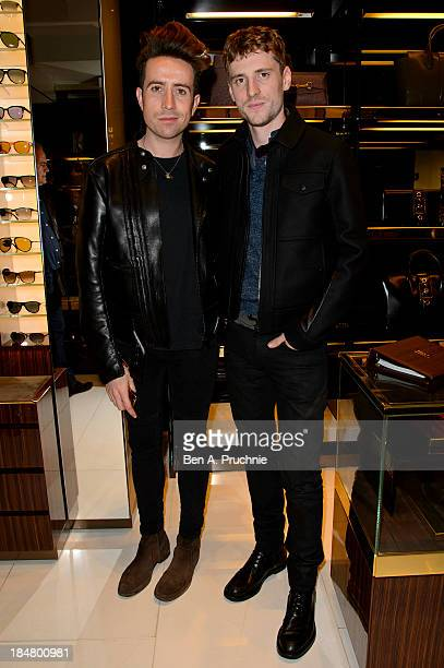 Nick Grimshaw and George Barnett attend as Gucci celebrates 'The Bamboo' at Gucci Store Old Bond Street on October 16 2013 in London England