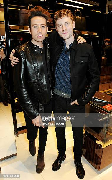 Nick Grimshaw and George Barnett attends a private cocktail hosted by Gucci and Clara Paget to celebrate 'I Bamboo You' at Gucci's Old Bond Street...