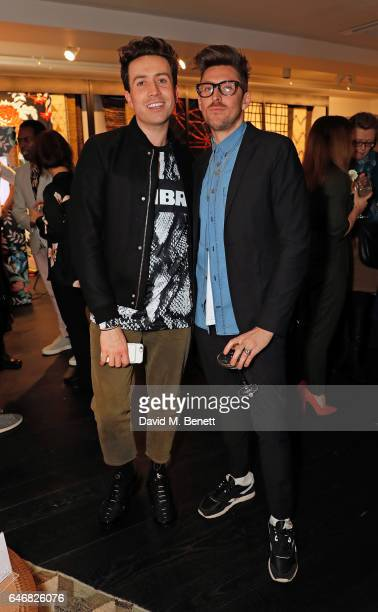 Nick Grimshaw and Henry Holland attend the launch of House Of Holland x Habitat at Habitat on March 1 2017 in London England