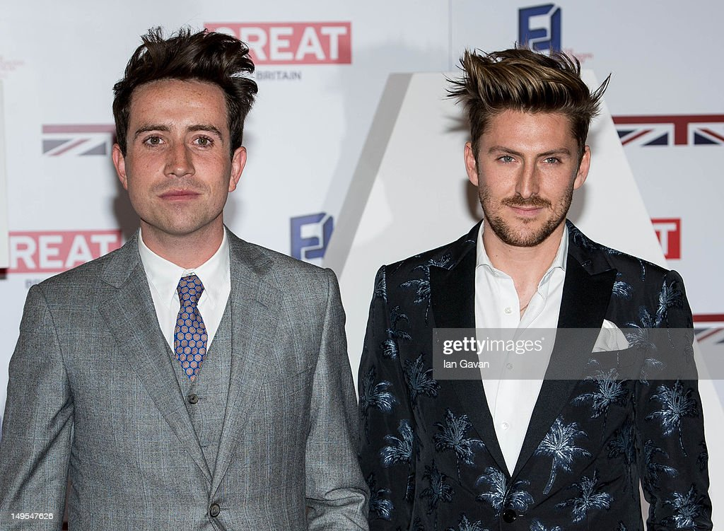 Nick Grimshaw and Henry Holland attends the UK's Creative Industries Reception at the Royal Academy of Arts on July 30, 2012 in London, England.