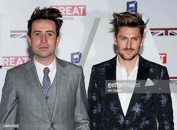 Nick Grimshaw and Henry Holland attends the UK's Creative Industries Reception at the Royal Academy of Arts on July 30 2012 in London England
