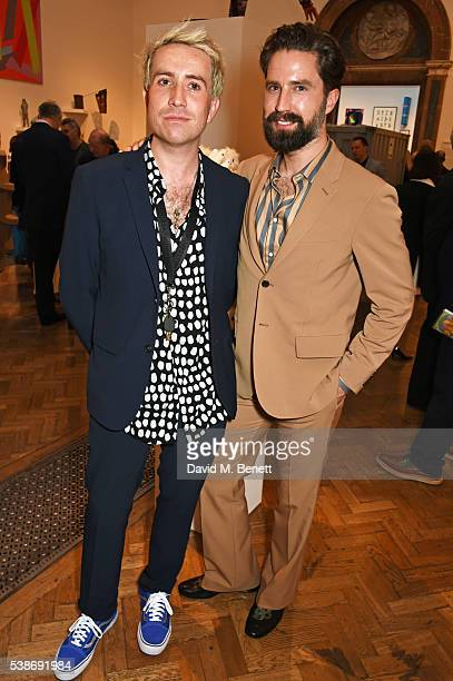 Nick Grimshaw and Jack Guinness attend a VIP preview of the Royal Academy of Arts Summer Exhibition 2016 on June 7 2016 in London England