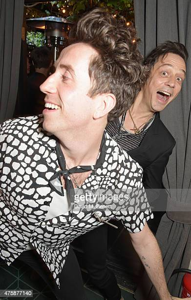 Nick Grimshaw and Jamie Hince attend a private dinner celebrating the launch of the Nick Grimshaw for TOPMAN collection at Odette's Primrose Hill on...