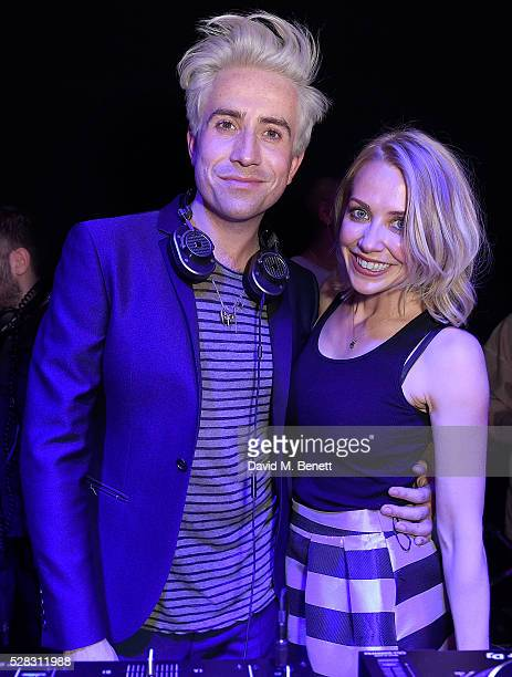 Nick Grimshaw and Laura Hamilton at The London Cabaret Club launch party at The Bloomsbury Ballroom on May 4 2016 in London England