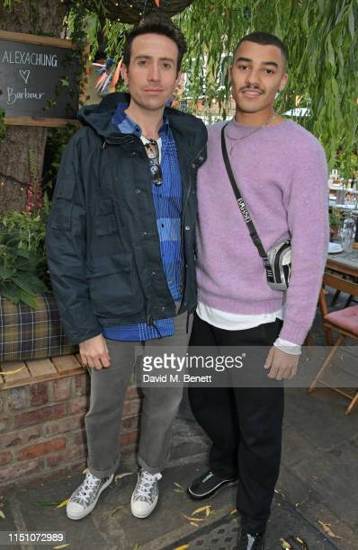 Nick Grimshaw and Meshach Henry attend the VIP London launch of the Barbour by ALEXACHUNG collection at The Albion on June 20 2019 in London England
