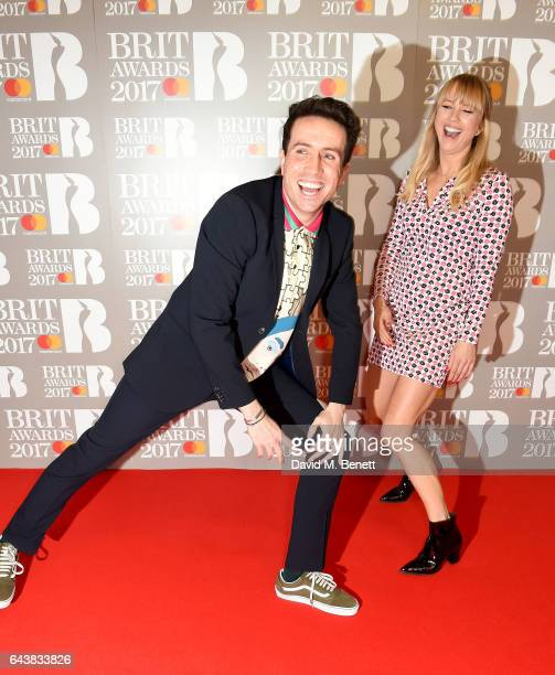 ONLY Nick Grimshaw and Sara Cox attend The BRIT Awards 2017 at The O2 Arena on February 22 2017 in London England