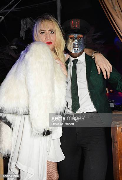 Nick Grimshaw and Tafari Hinds attend 'Death Of A Geisha' hosted by Fran Cutler and Cafe KaiZen with Grey Goose on October 31 2014 in London England