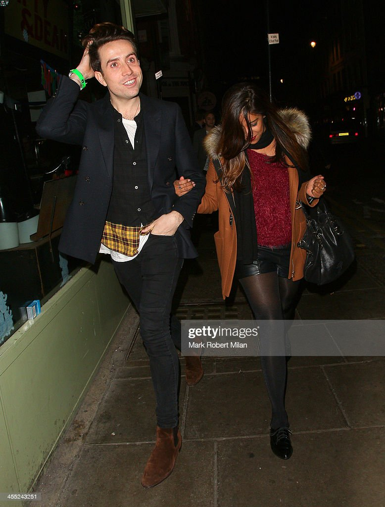 Nick Grimshaw at the Groucho club on December 11, 2013 in London, England.