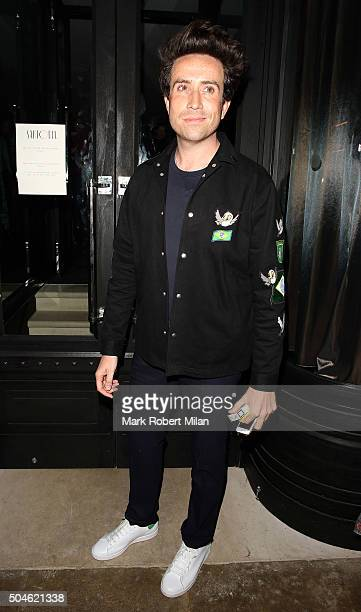 Nick Grimshaw attending the GQ Closing Dinner London Collections Men Autumn Winter 2016 on January 11 2016 in London England