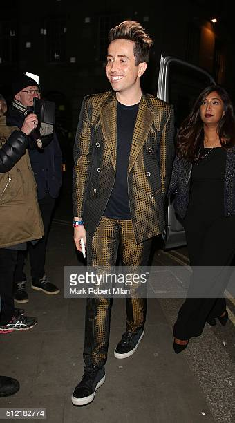 Nick Grimshaw attending the The Brit Awards Warner Music Group After Party on February 24 2016 in London England