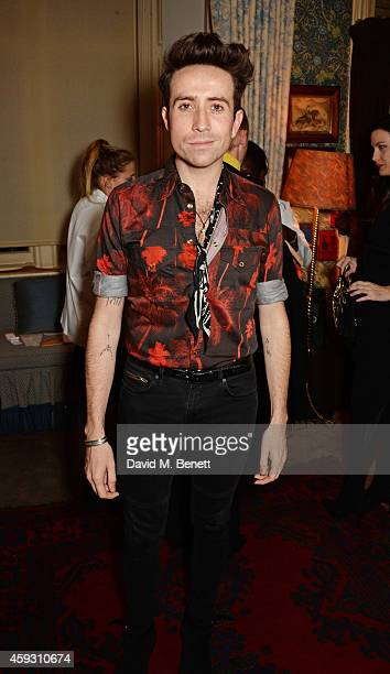 Nick Grimshaw attends a party hosted by David Beckham and Alister Mackie to celebrate Another Man Magazine at Mark's Club on November 20 2014 in...