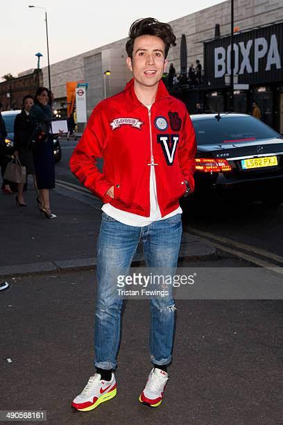 Nick Grimshaw attends a photocall to launch the David Beckham for HM Swimwear collection on May 14 2014 in London England