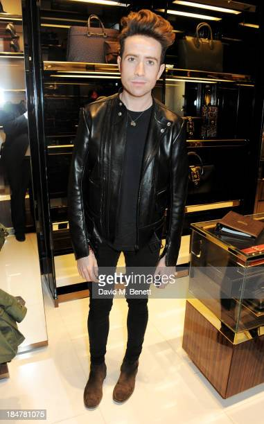 Nick Grimshaw attends a private cocktail hosted by Gucci and Clara Paget to celebrate 'I Bamboo You' at Gucci's Old Bond Street store on October 16...
