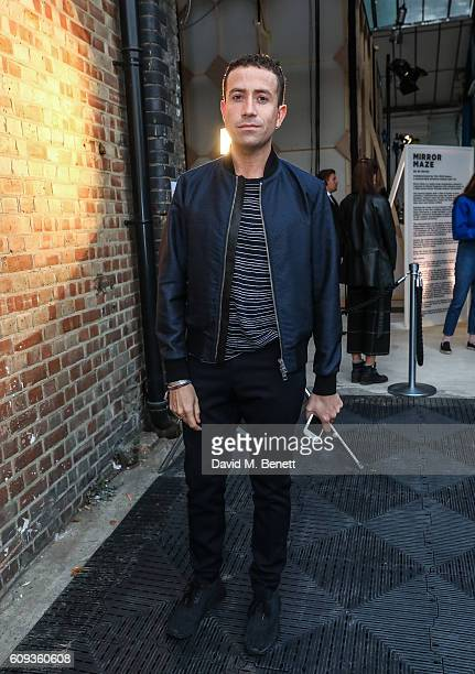 Nick Grimshaw attends a Private View iD And CHANEL Present The Fifth Sense Mirror Maze By Es Devlin on September 20 2016 in London United Kingdom