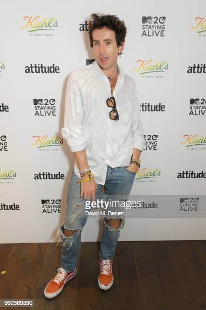 Nick Grimshaw attends Kiehl's 'We Are Proud' party to celebrate Pride on July 5 2018 in London England