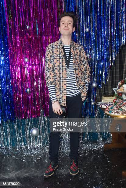 Nick Grimshaw attends the Burberry x Cara Delevingne Christmas Party on December 2 2017 in London England