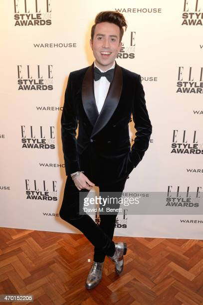 Nick Grimshaw attends the Elle Style Awards 2014 at One Embankment on February 18 2014 in London England