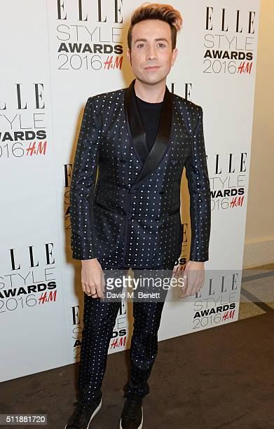 Nick Grimshaw attends The Elle Style Awards 2016 on February 23 2016 in London England