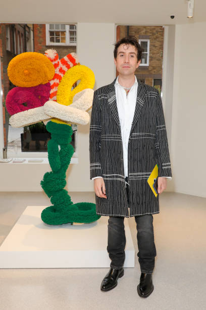 GBR: Launch of Damien Hirst's Previously Unseen Exhibition 'Sunshine (Complex Relationships Explained Simply)' At Claridge's ArtSpace