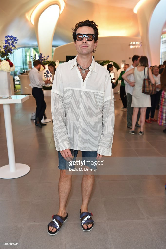 Nick Grimshaw attends the launch of the Palace x Adidas Wimbledon kit on June 27, 2018 in London, England.